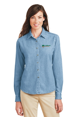 Picture of Port & Company Ladies Long Sleeve Denim Shirt