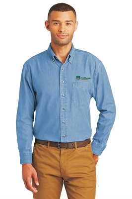 Picture of Port & Company Men's Long Sleeve Denim Shirt